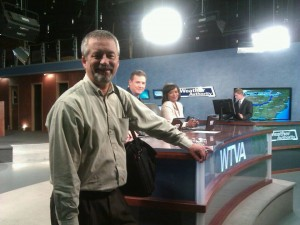 WTVA news director Dave Beech says producers can become excellent reporters.  Photo by Christina Jones.