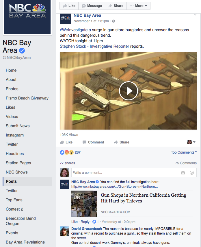 Using Facebook to promote nightly newscasts