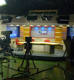 TV news set-photo by Phil Rankin